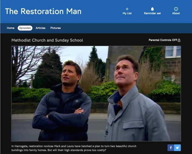 TV, Restoration Man, Channel 4, The Chapel HG1, architecture, Grade II, Listed, heritage, treasures, renovation, George Clarke, All4, Mark Hinchliffe, Harrogate, Yorkshire